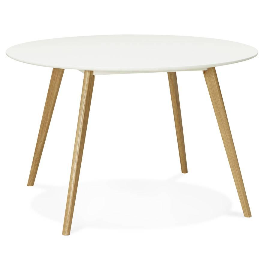 Design Eettafel Wit.Kokoon Design Ronde Eettafel Wit Blad En Eiken Poten Camden 120cm