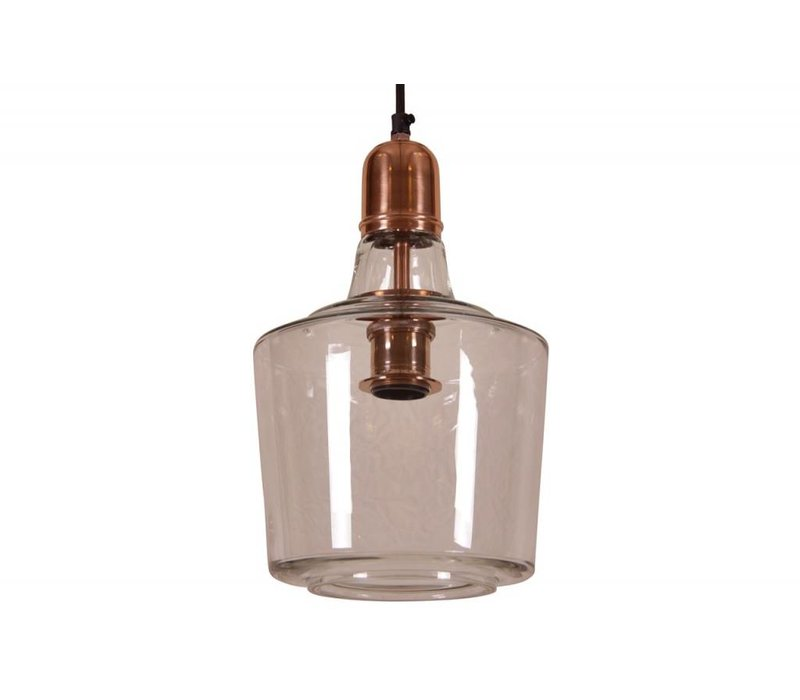 Hanglamp Yole  Ø21 glas koper