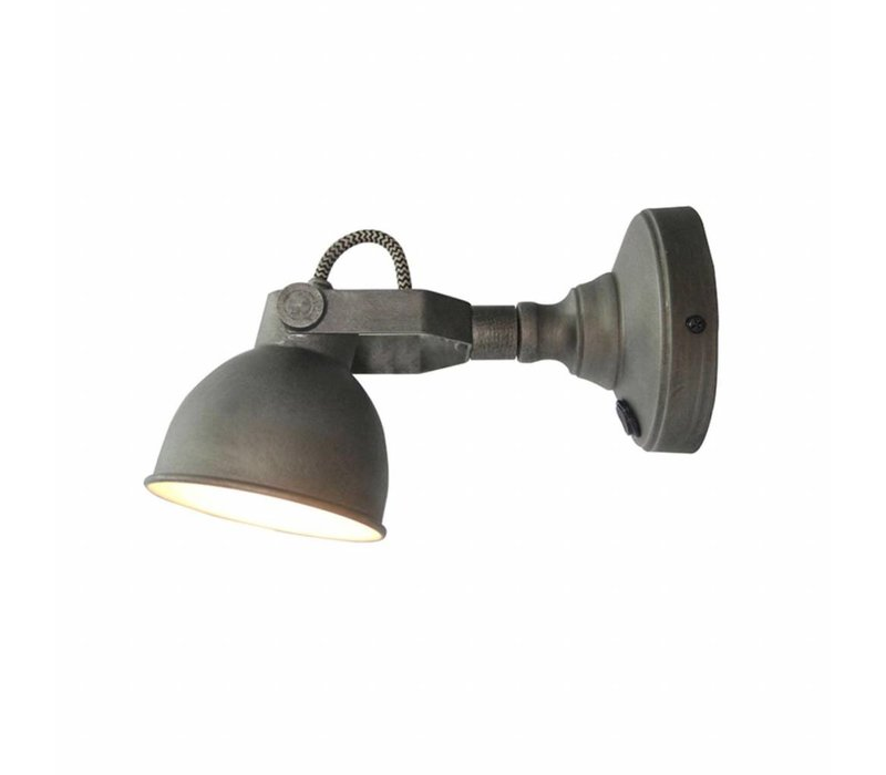 Wandlamp Bow M grijs incl. led