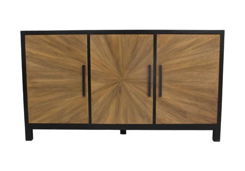 HSM Collection Dressoir Sunburst - eiken/black