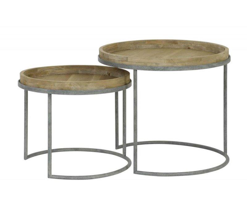 Salontafels COPAN  set van 2 grey+wood