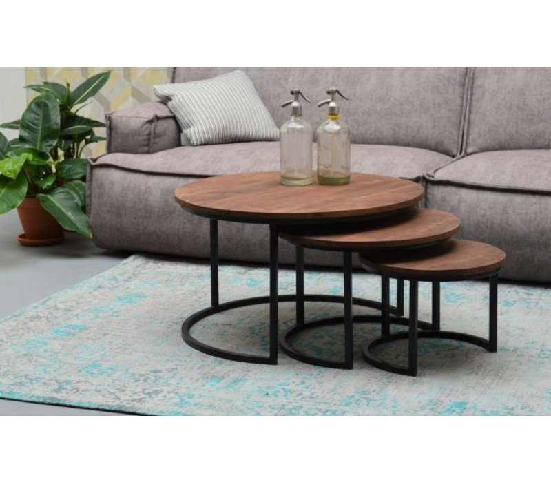 Salontafel rond set van 3 Tony