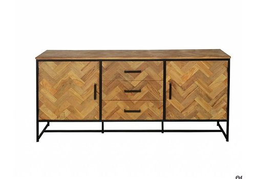 Livingfurn Dressoir SB Accent 180cm  recycled teak