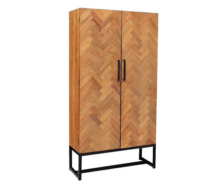 Wandkast CAB Accent 105cm recycled teak