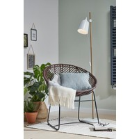Fauteuil Cocon rotan donkerbruin