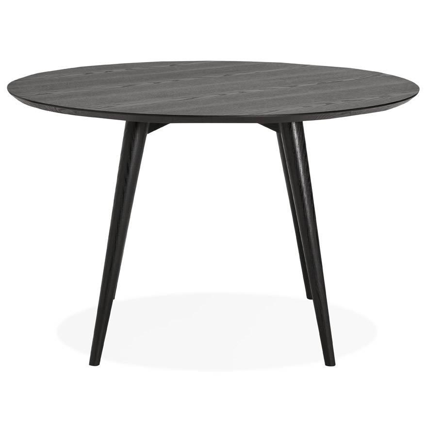 Tafel Rond 120.Kokoon Design Ronde Eettafel Janet 120 Cm In Zwart Eiken Hoom