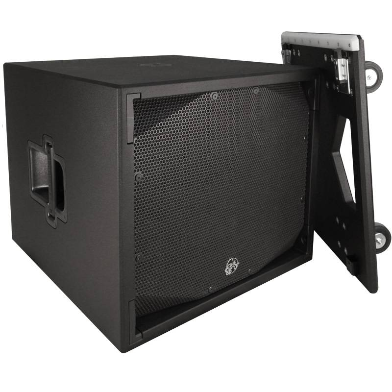 """Clair Brothers Self-Powered, High Output Dual 18"""" Sub, 2x18"""",with dolly"""