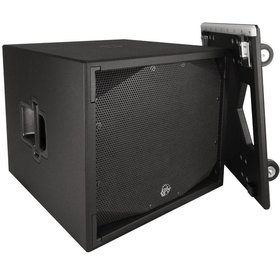 "Clair Brothers Self-Powered, High Output Dual 18"" Sub, 2x18"",with dolly"
