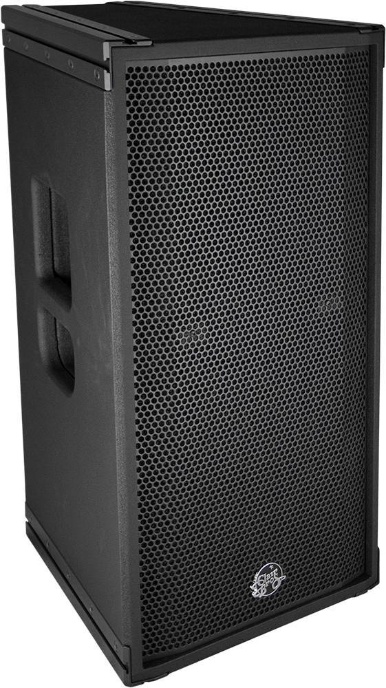 "Clair Brothers 2-way active install full range: 12"" LF, 2"" HF   90°H x40°V"