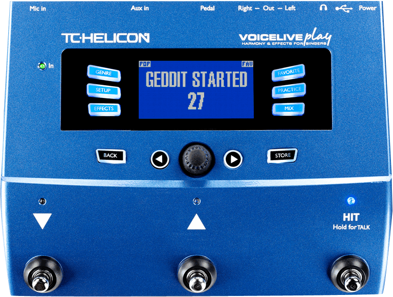 TC Helicon VOICELIVE PLAY Vocale multi-effecten stompbox