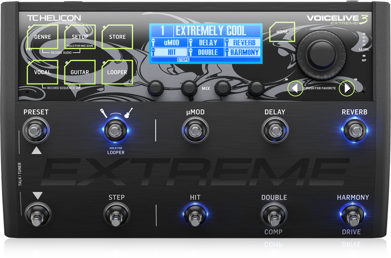 TC Helicon VOICELIVE 3 EXTREME Vocal & Microphone effectprocessor