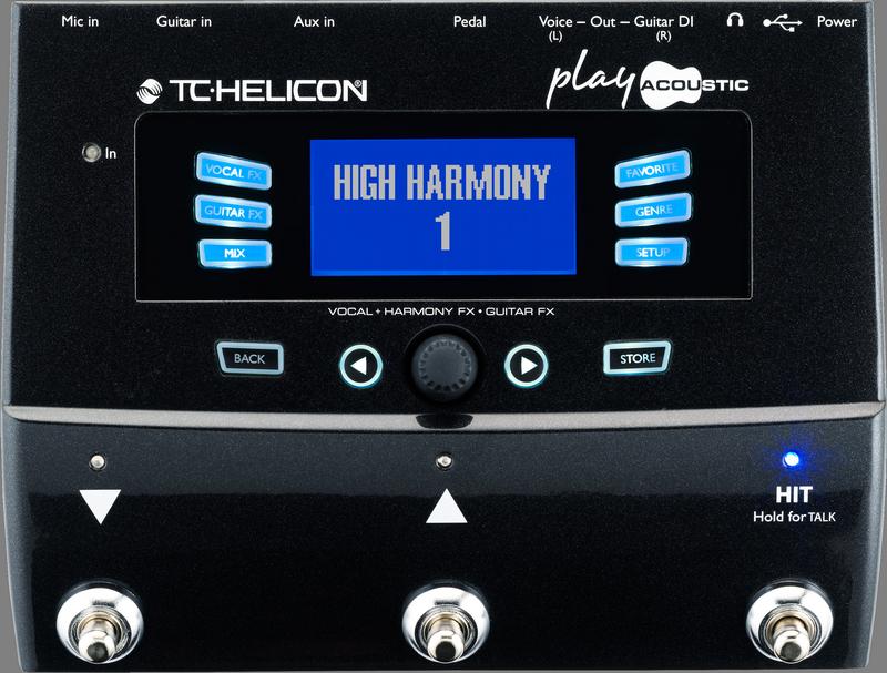 TC Helicon PLAY ACOUSTIC Vocal en Akoestische gitaar effecten stompbox