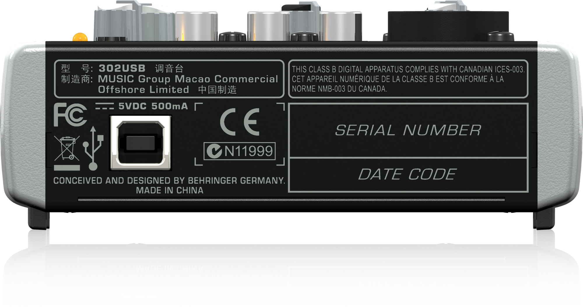 Behringer Xenyx 302USB - Analogue Mixer