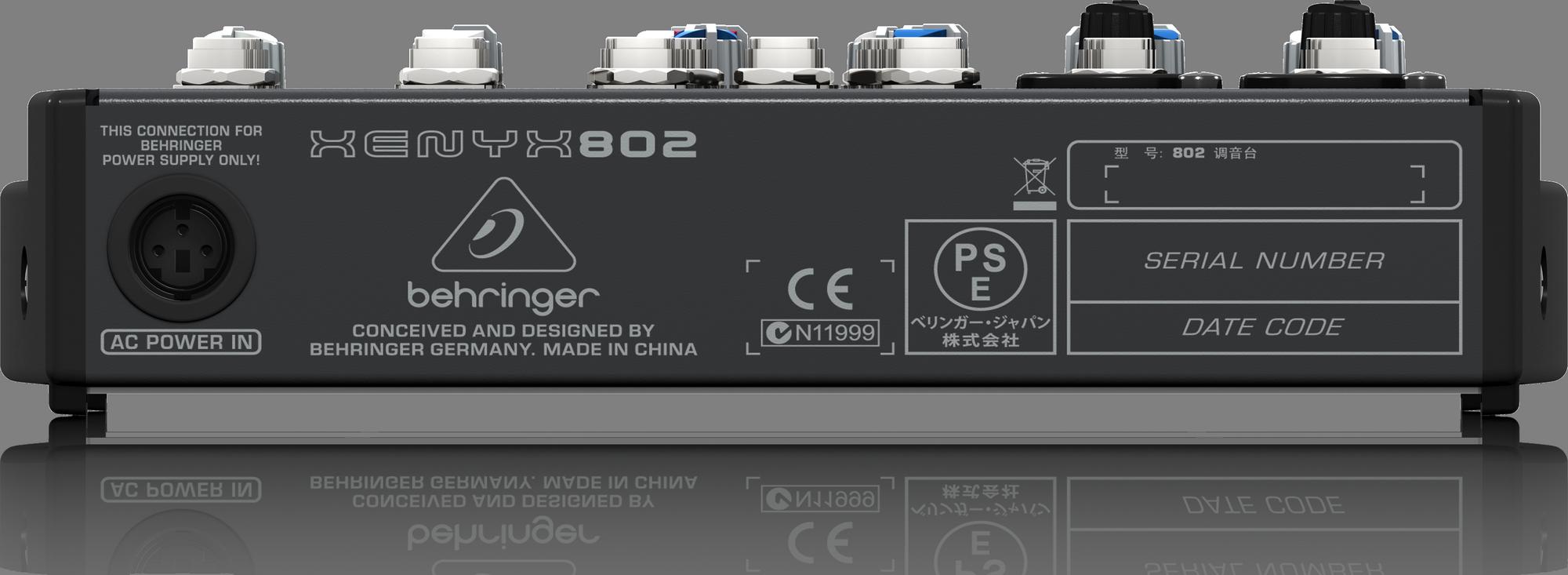 Behringer Xenyx 802 - Analogue Mixer