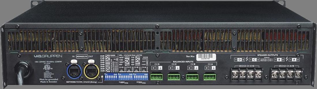 Lab Gruppen C 10:4X Amp 4x250W/4ohm EU+US