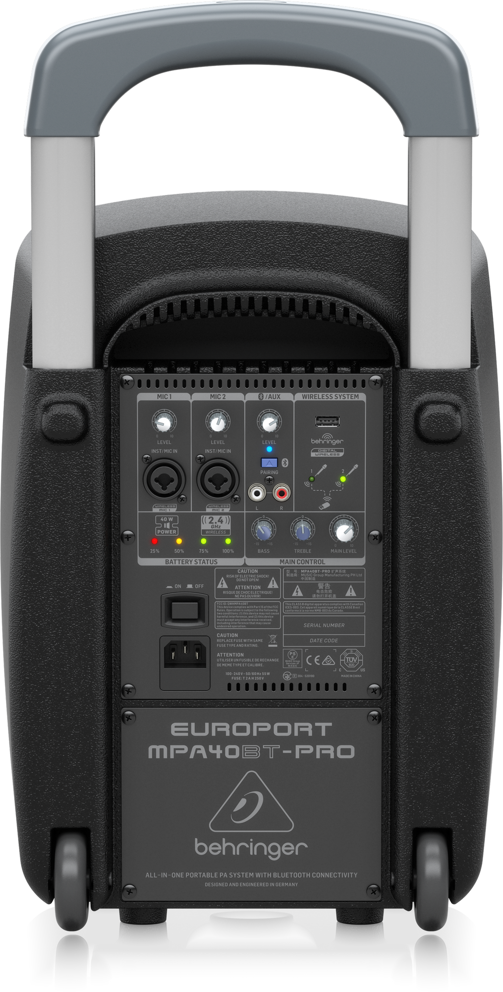 Behringer MPA40BT-PRO - Draagbaar PA-systeem