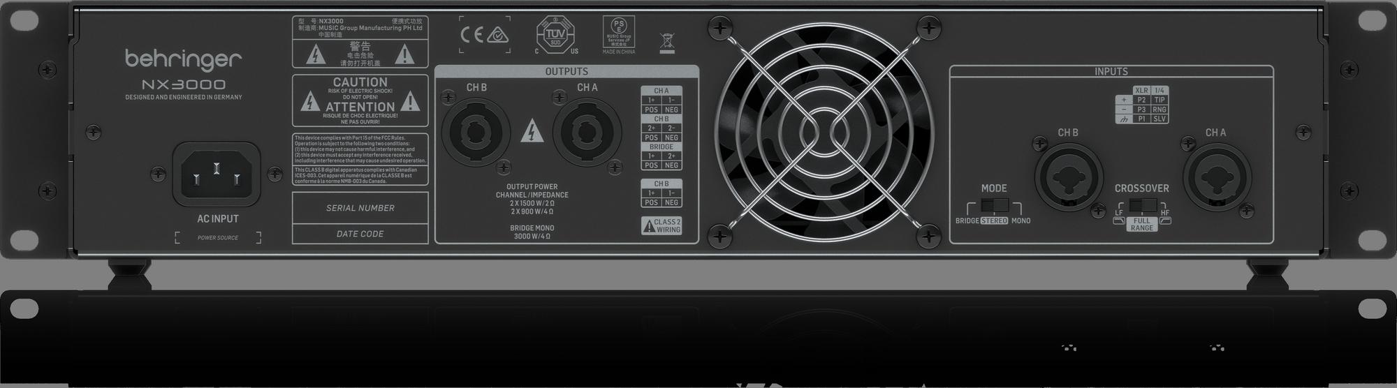 Behringer NX3000 Amplifier