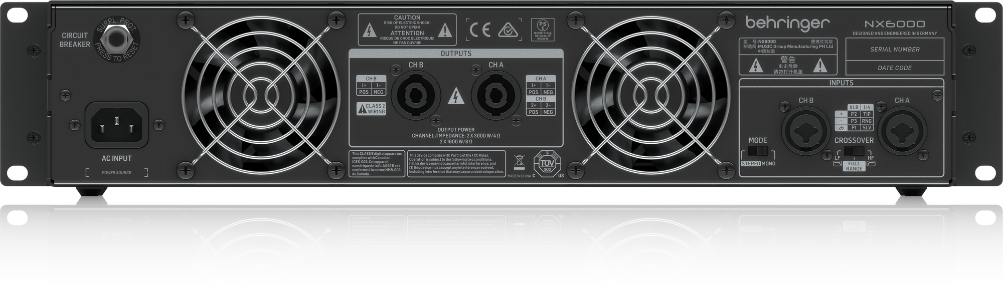 Behringer NX6000 - Power Amplifier