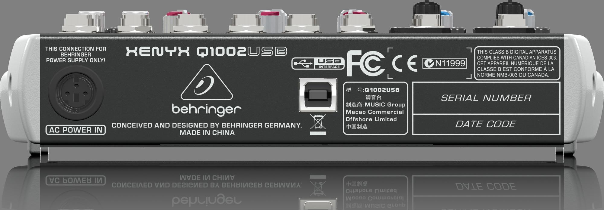 Behringer Q1002USB - console