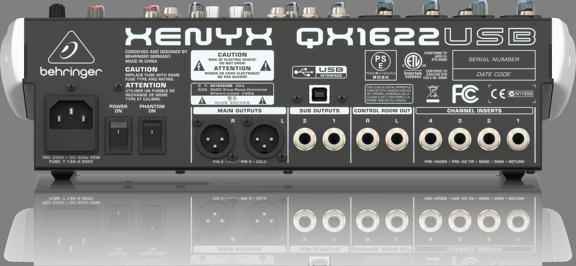 Behringer QX1622USB -  Analoog mengpaneel