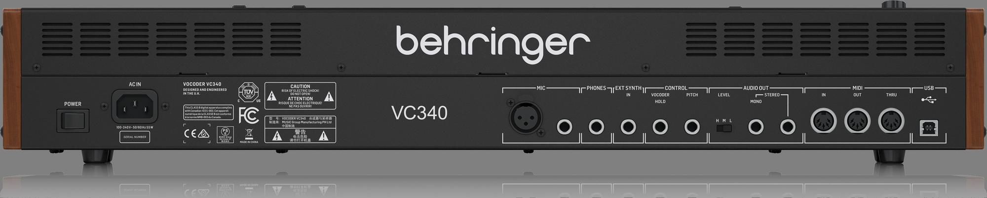 Behringer VOCODER VC340 - Vocoder Analogique