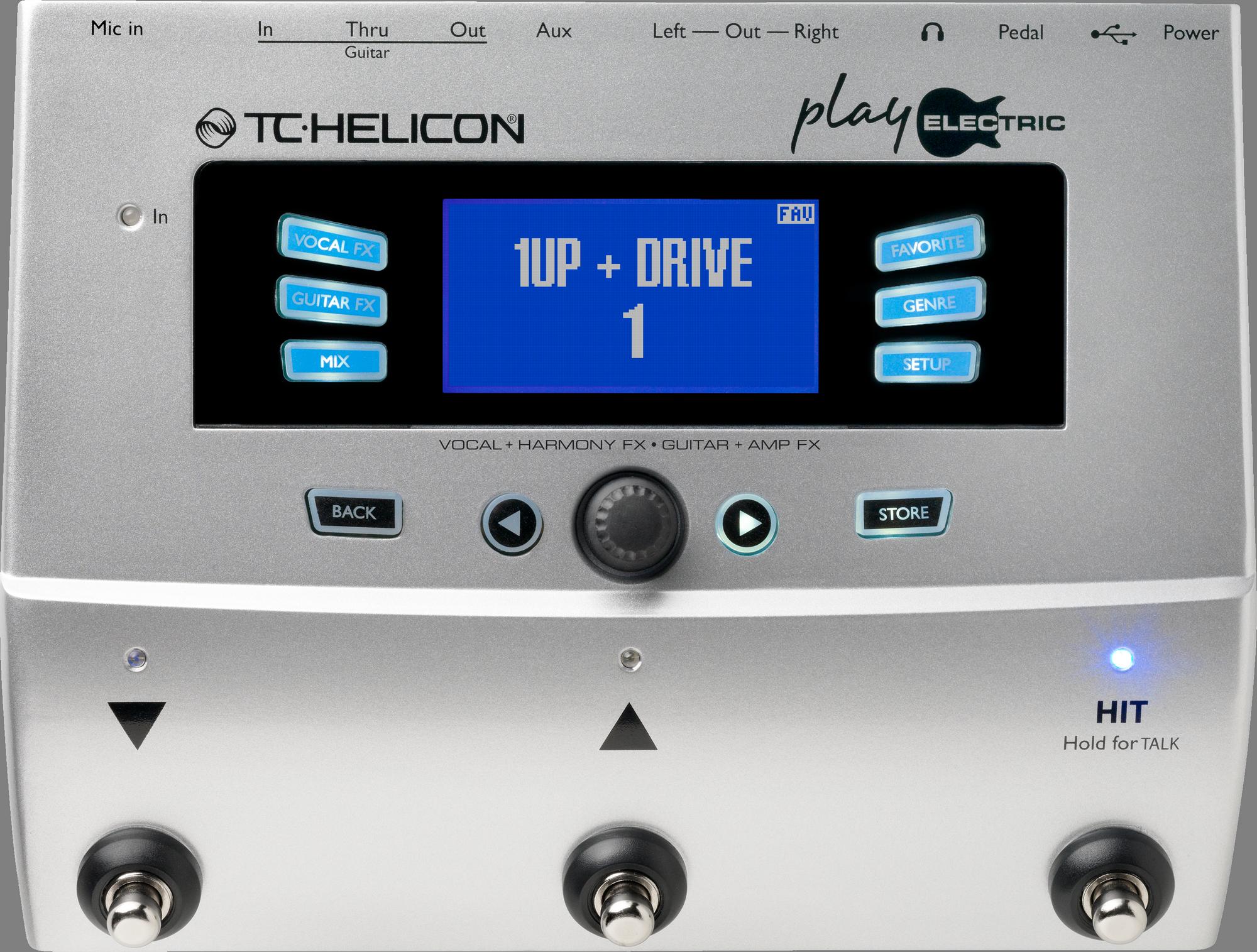 TC Helicon PLAY ELECTRIC Vocal en Gitaareffecten Stompbox