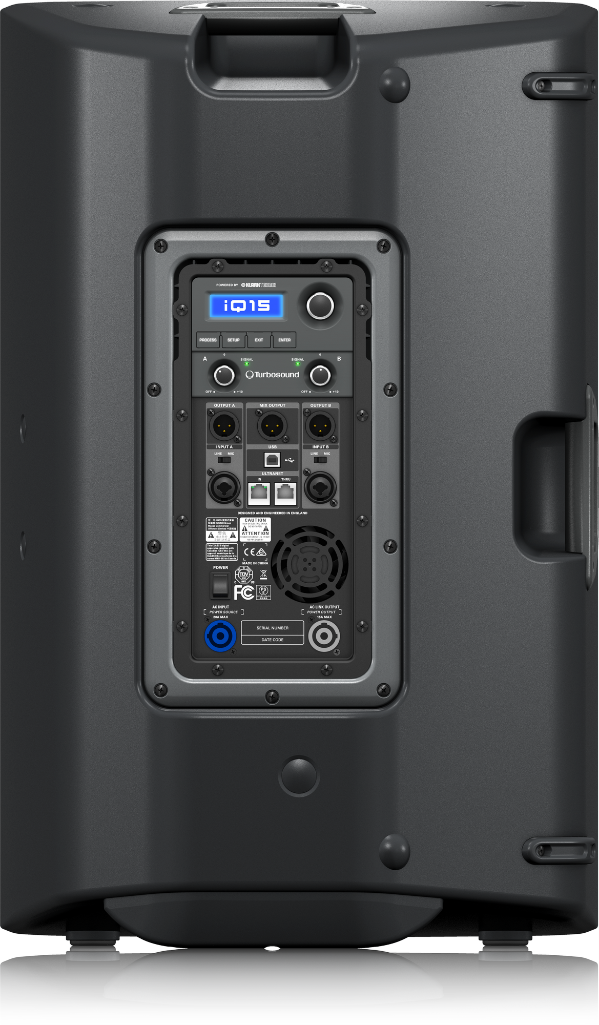 Turbosound  iQ15 - Haut Parleur auto-alimente