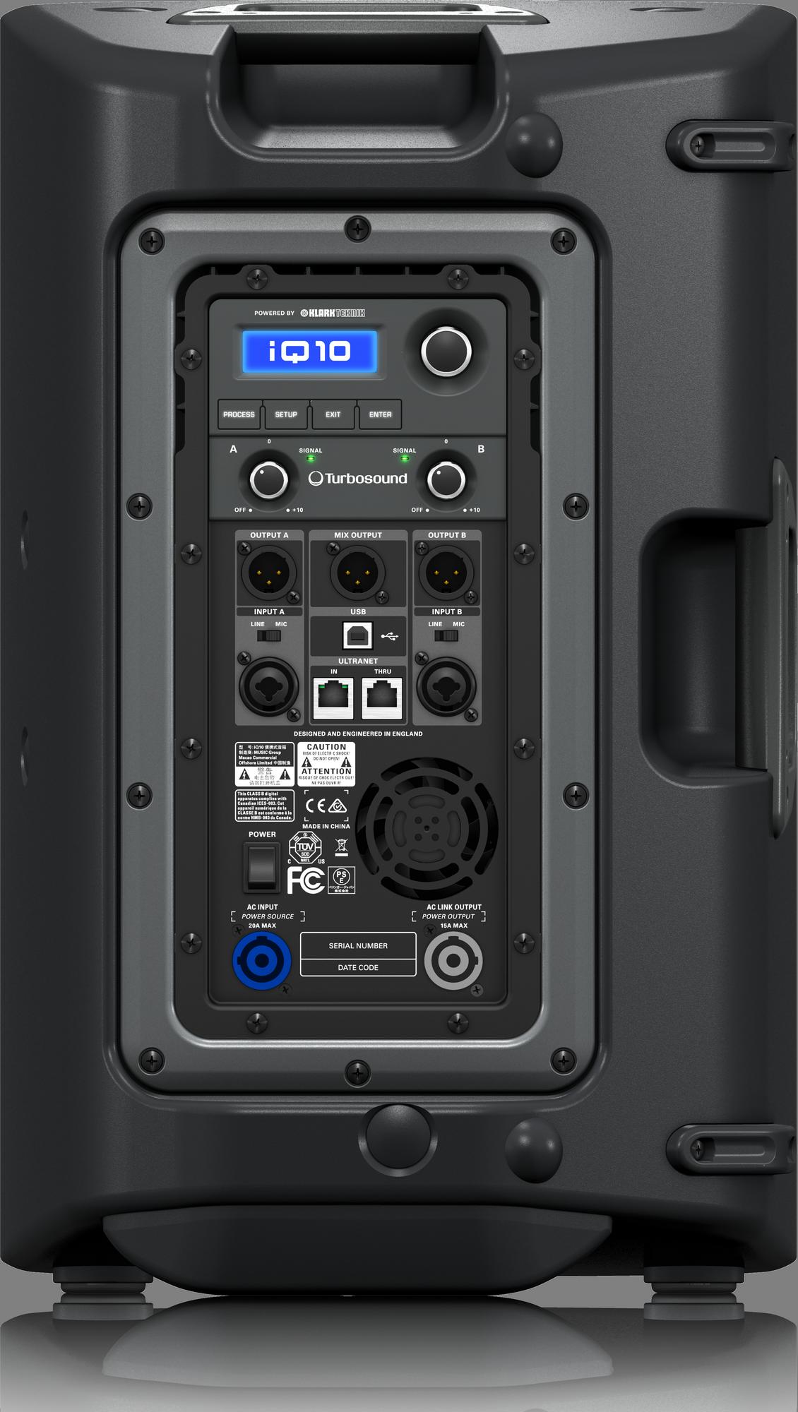 Turbosound  IQ10 - Powered Enceintes de Sonorisation