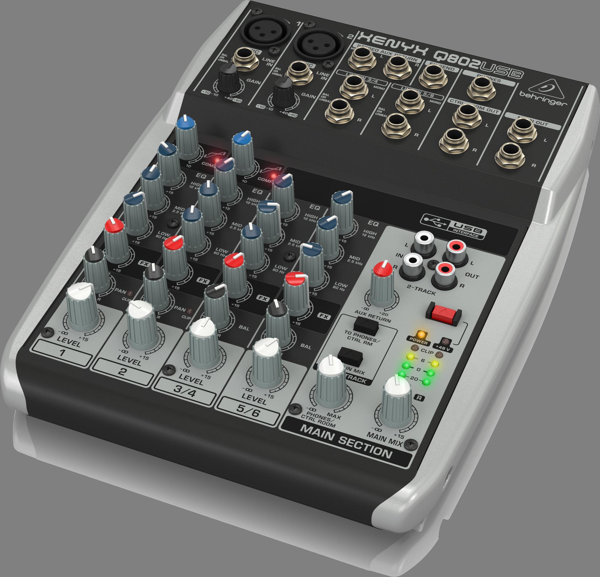 Behringer XENYX Q802USB - Mixing console