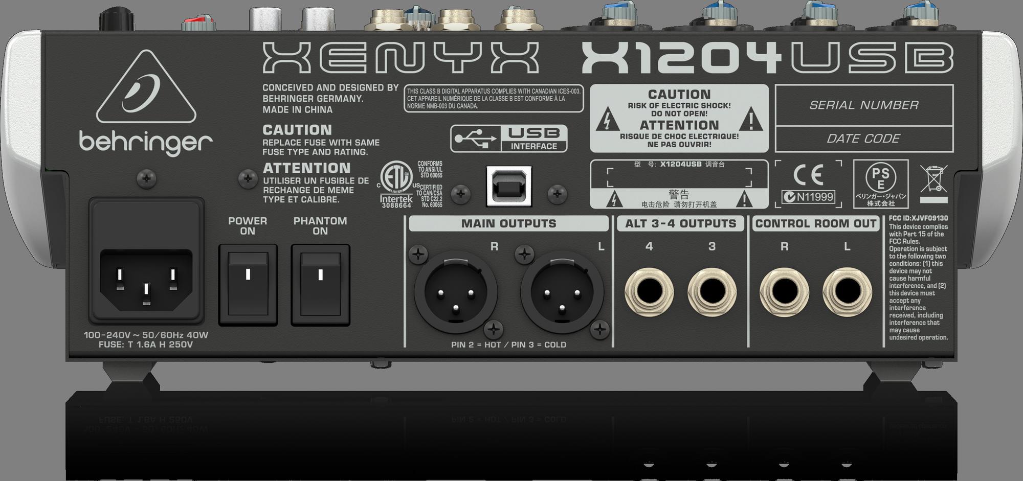 Behringer Xenyx X1204 USB Table mixage analogique