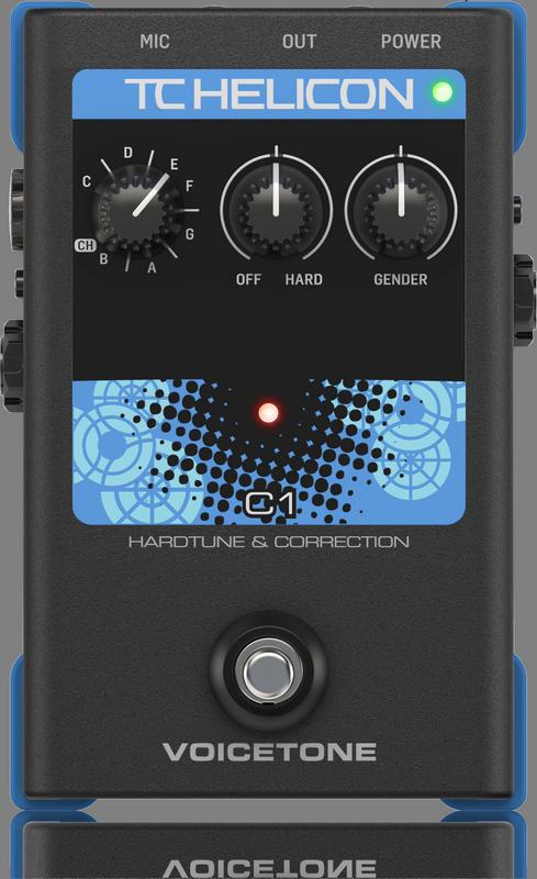 TC Helicon Voicetone C1 - Pédale d'effet vocal