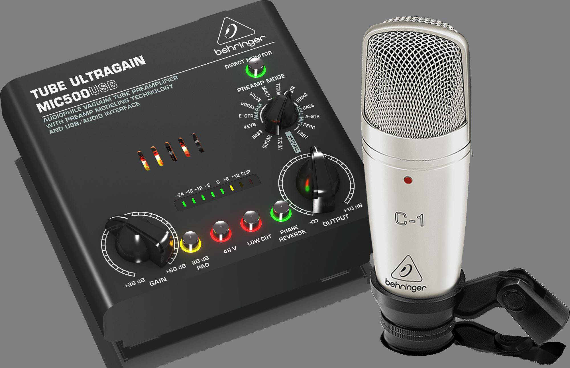 Behringer VOICE STUDIO - Opname bundel