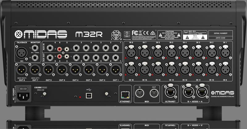 Midas B-stock: M32R - Mengtafel