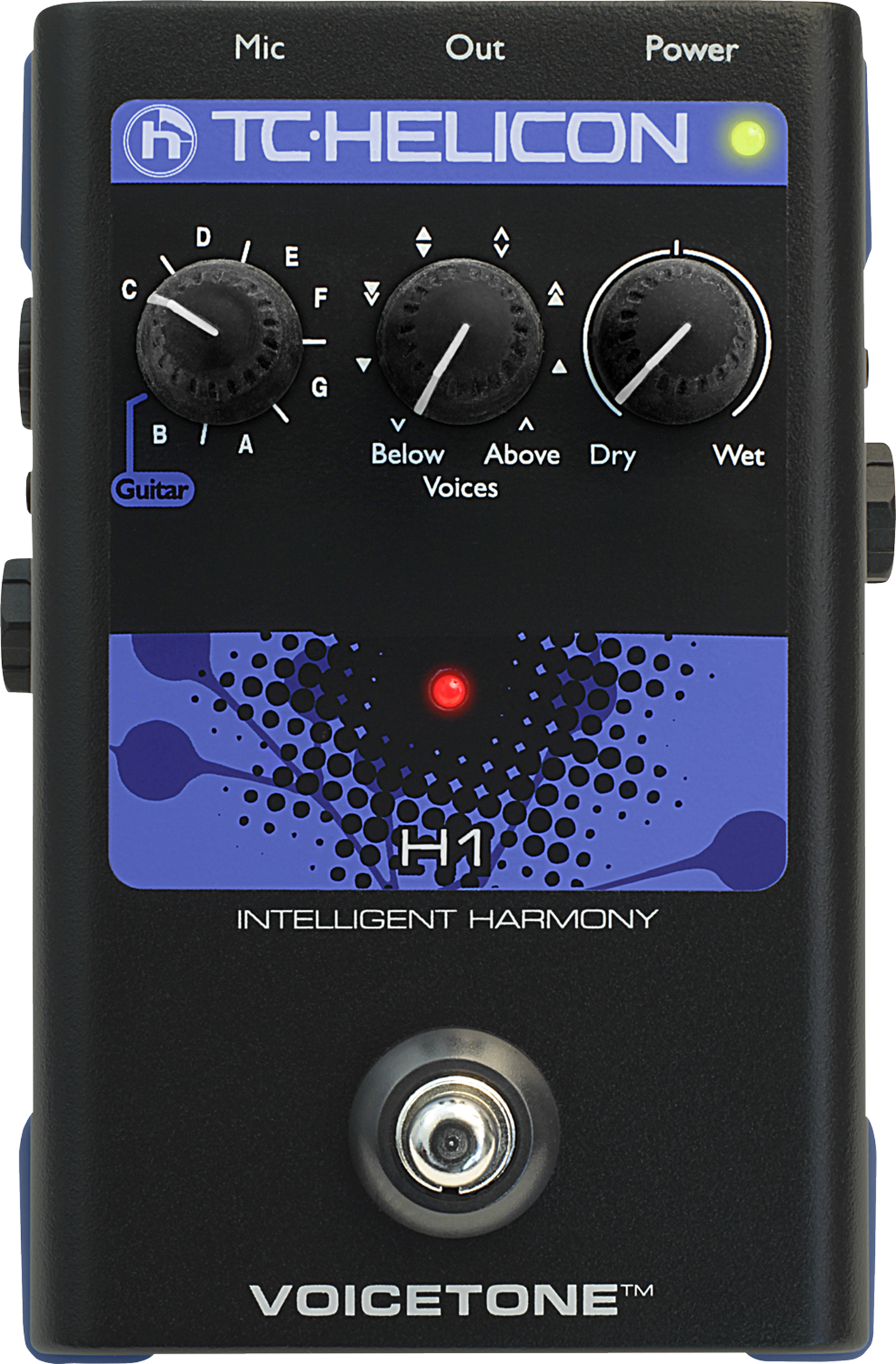 TC Helicon Voicetone H1 - Pedale d'effet vocale