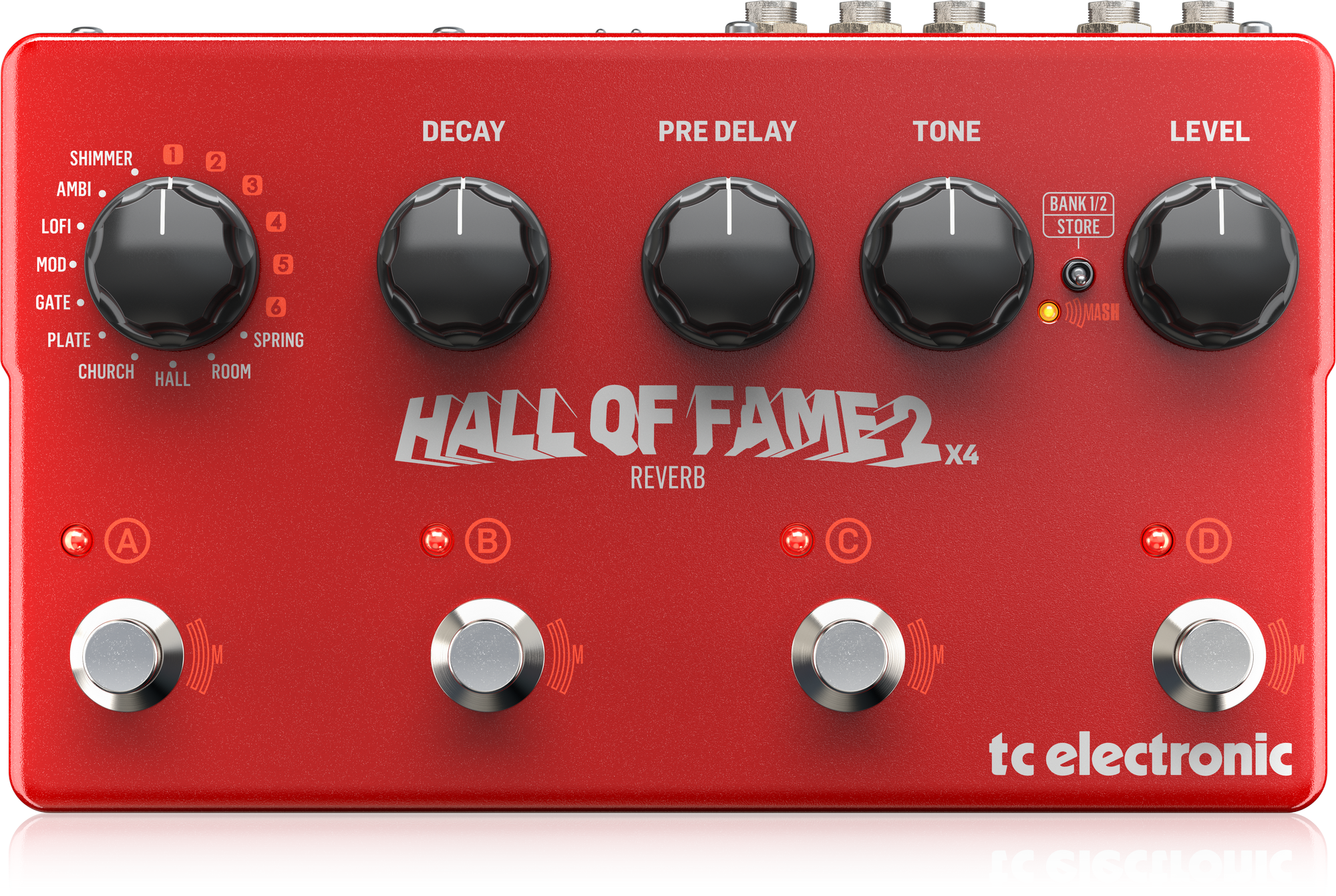 TC-Electronic Hall of Fame 2 x4 Reverb - Effect pedaal