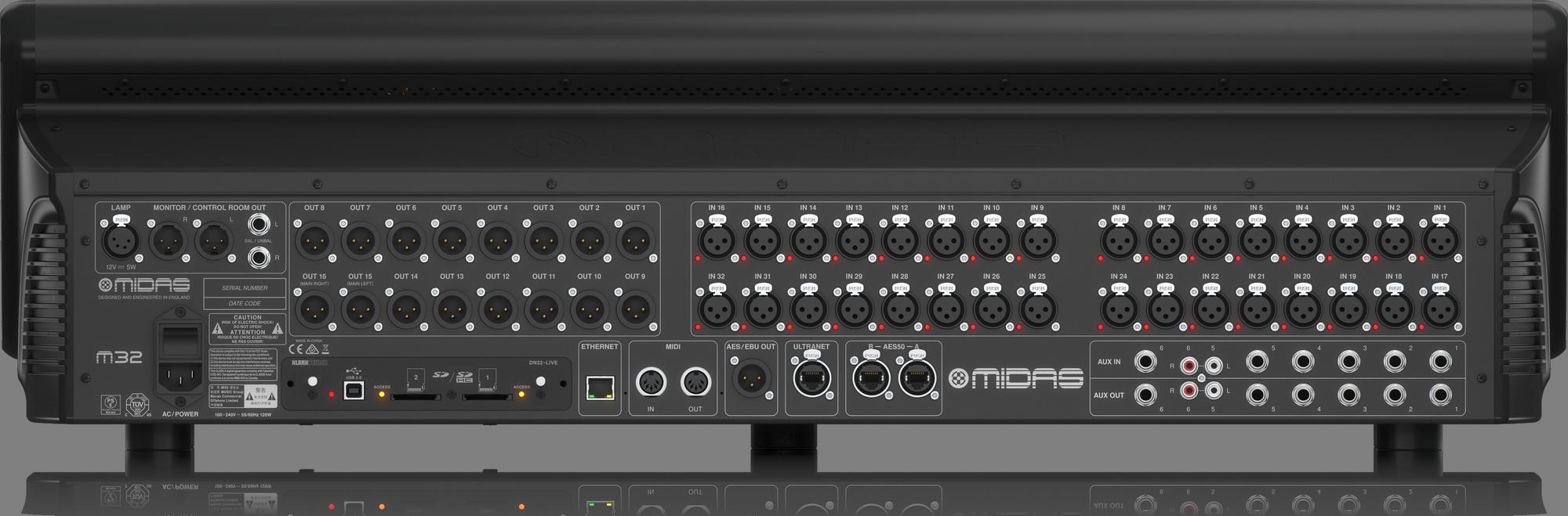 Midas M32 Live + DL32 Combi - Console with stageblock
