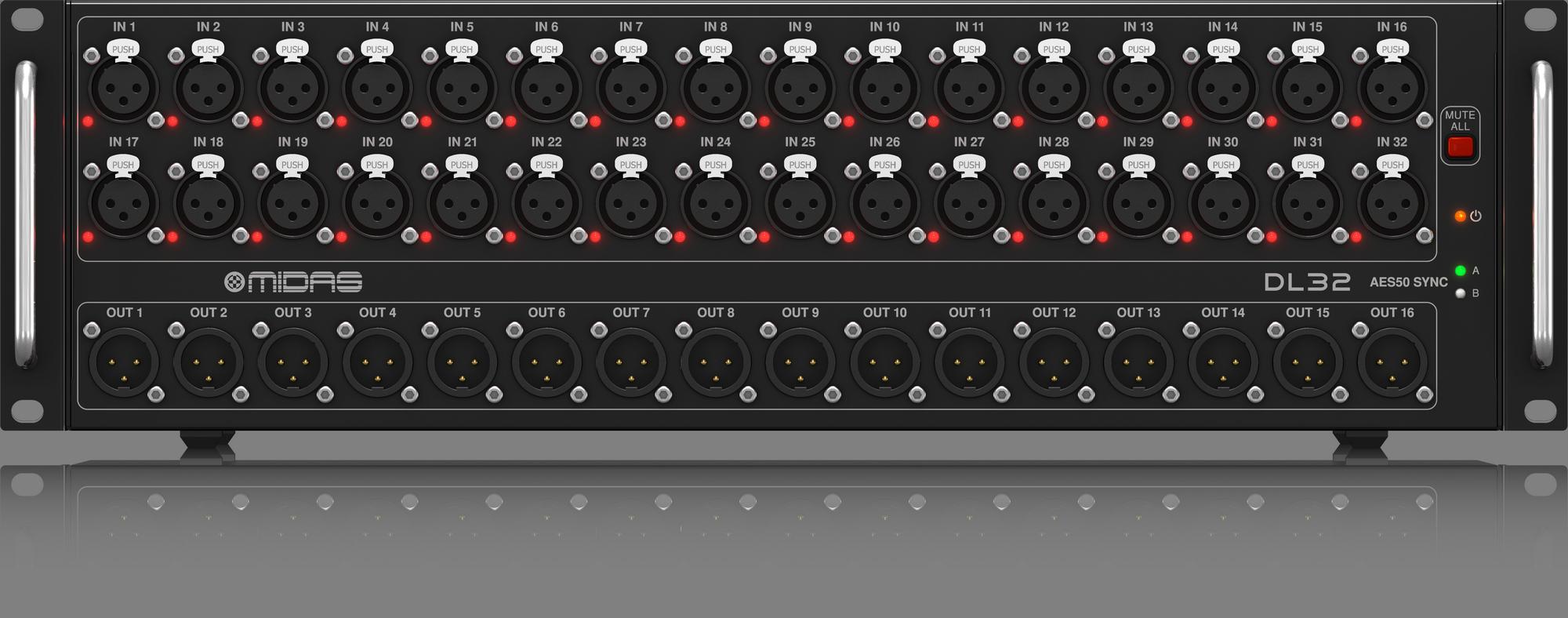 Midas M32R Live + DL32 Combi - Console avec bloc de scène
