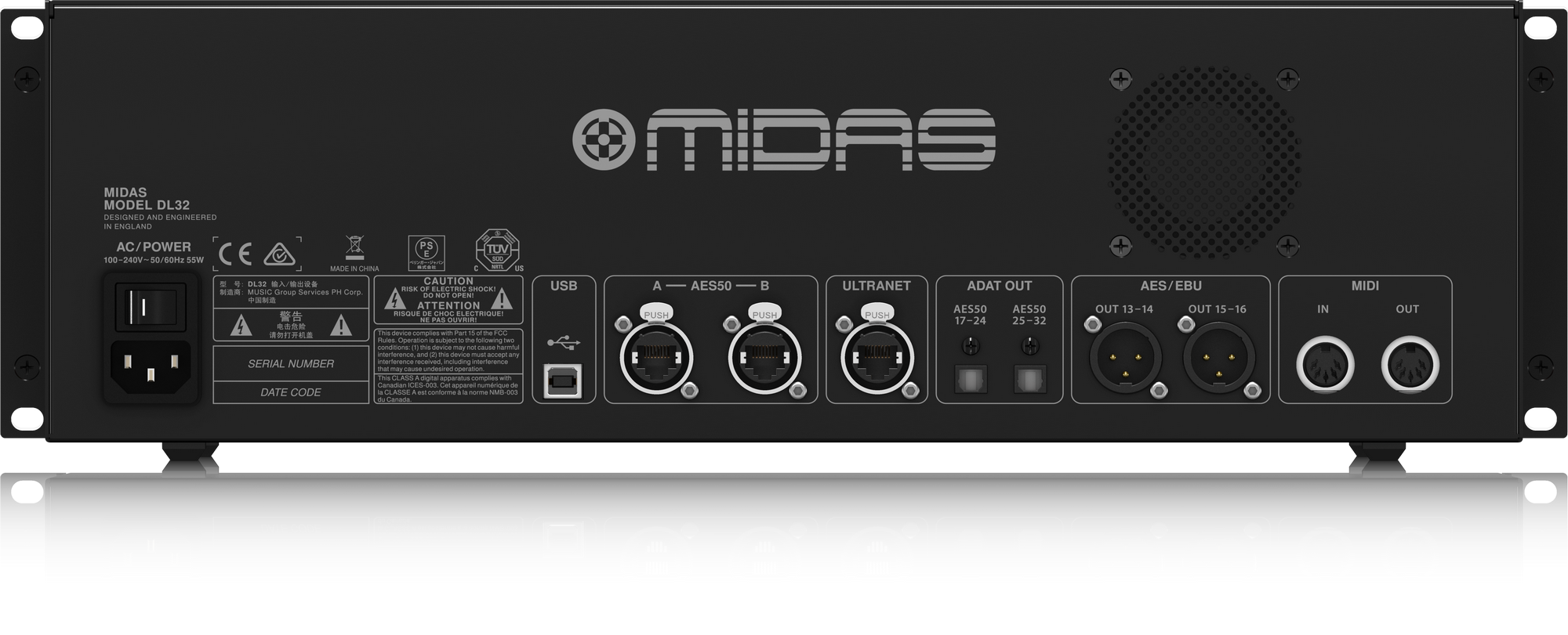 Midas M32R Live + DL32 Combi - Console with stageblock