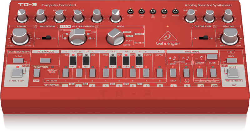 Behringer TD-3-RD - Analoger Synthesizer