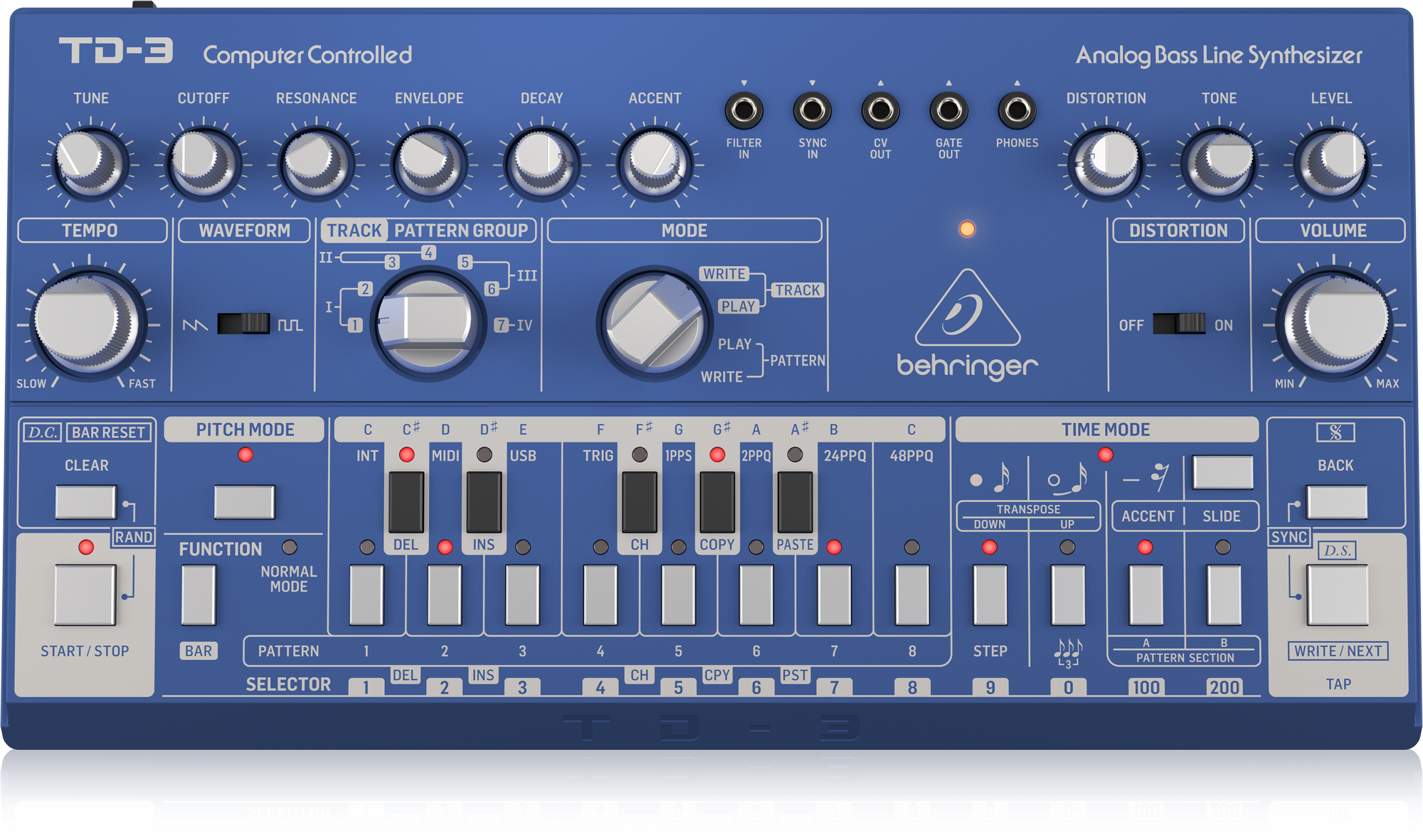 Behringer TD-3-BU - Analoger Synthesizer