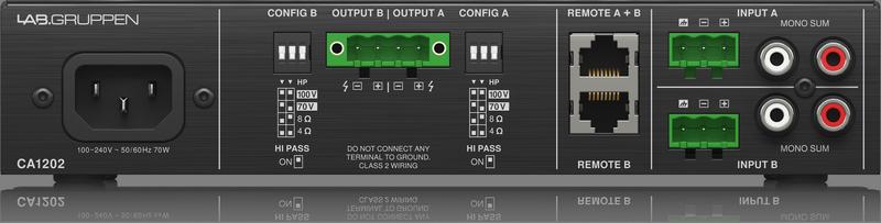 Lab Gruppen Lab.Gruppen CA1202 Kommerzieller 2 x 120 Watt Verstärker