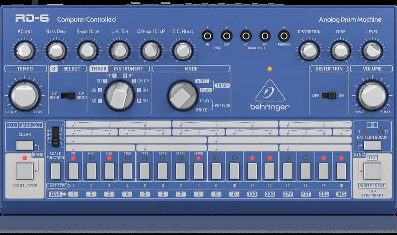 Behringer Behringer RD-6-BU Analoge drumcomputer