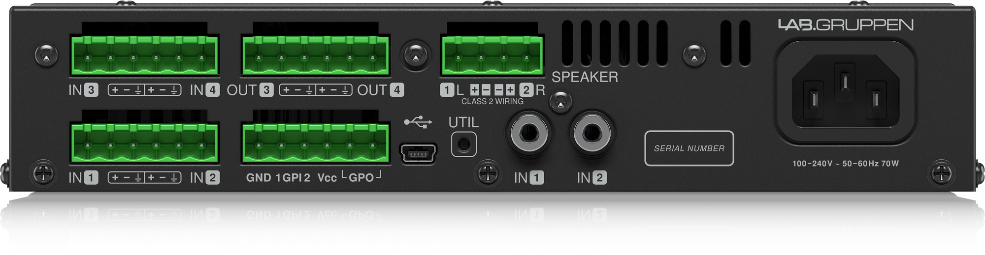 Lab Gruppen Lab. Gruppen LUCIA 240 / 2M Compact matrix amplifier