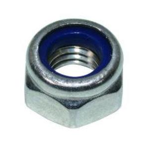 Borgmoer DIN985 met nylon ring - verzinkt