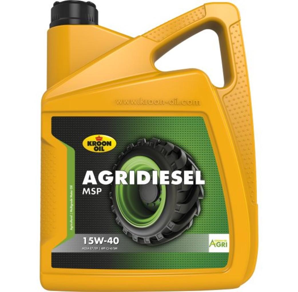 Kroon-oil Kroon-oil Agridiesel MSP 15W-40 motorolie 5 Liter - 35081