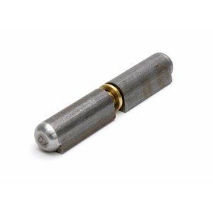 Dulimex Aanlaspaumelle stalen pen blank staal, hoogwaardige kwaliteit