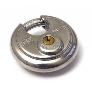 Dulimex Dulimex Discusslot verschillend sluitend - RVS / gehard staal