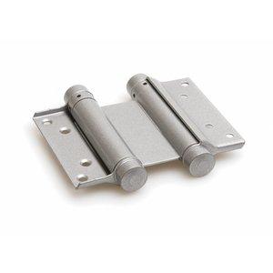 Dulimex Bommer scharnier dubbelwerkend staal zilvergrijs