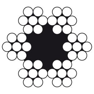Dulimex Dulimex Staalkabel 6x7 +1 TWK - prijs per meter
