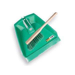Solide Solide Stoffer met blik groen - 39 cm - kunststof/ PPN - 1492030